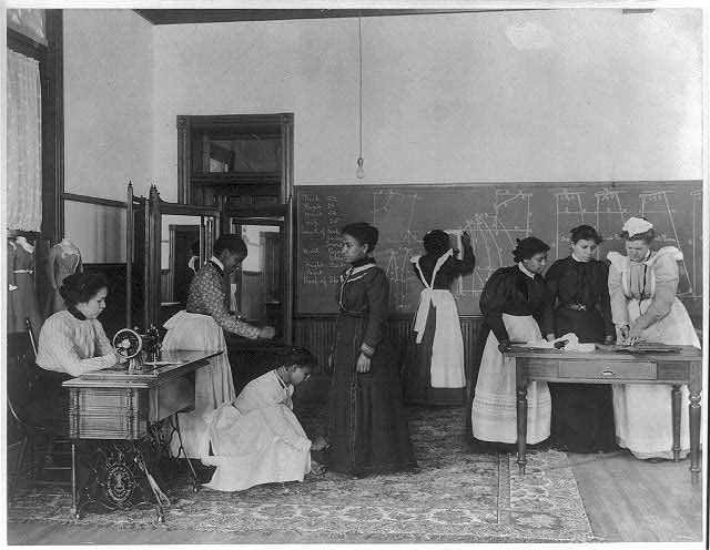 dressmaking class, 1899