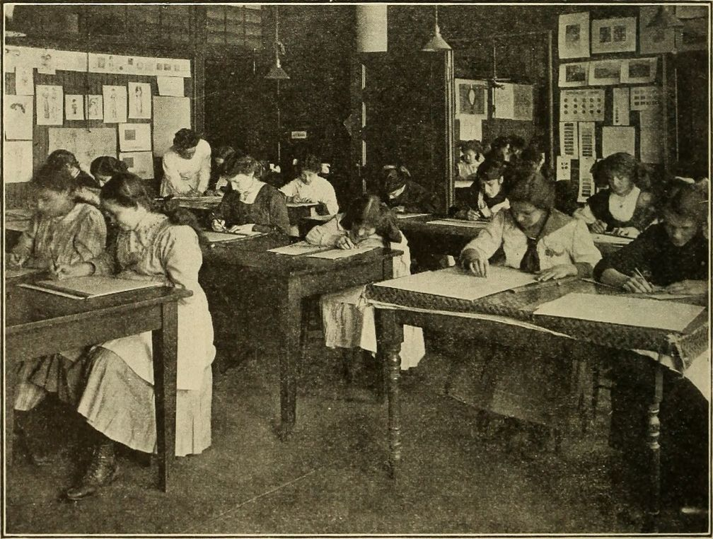 Preparation_for_trades;_Manhattan_trade_school_for_girls,_Vocational_school_for_boys,_Murray_Hill_vocational_school,_Brooklyn_vocational_school_for_boys_(1916)_(14775980452)
